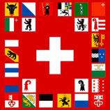 Kantonsfahne mit / ohne Ausleger