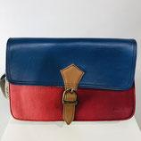 Handtasche Soruka Rot/Blau/Braun