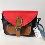 Handtasche Soruka rot/braun/violett