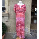 Gemustertes Sommerkleid rot/pink/orange