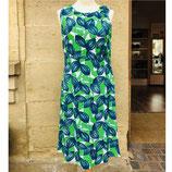 Kleid Adini Blätter blau/grün