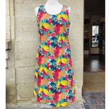 Farbenfrohes Kleid mit Blumen-Print von Adini