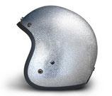 Retro Helmet Silver Metalflake
