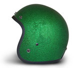 Retro Helmet Green Metalflake