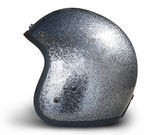 Retro Helmet Gunmetal Metalflake