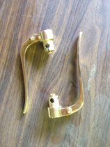 Inverted levers polished brass
