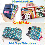 Kombi-Paket Börse Mona-Kuna & Mini ZipperWallet Jadea !Neu!