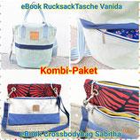 Kombi-Paket RucksackTasche Vanida und Crossbodybag Sabitha