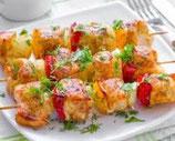 PLATEAU DE REPAS  /  Brochette de poulets créoles
