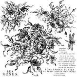 IOD Decor Stempel Rose Toile