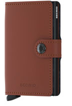 Mini Wallet Matte Brown