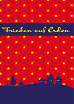 Weihnachtskarte Frieden