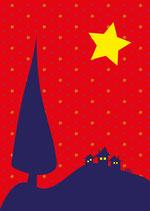 Weihnachtskarte Dorf