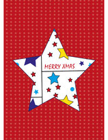 Weihnachtskarte großer Stern