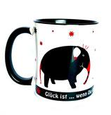 Tasse Elefant - Glück ist, wenn du dafür geliebt wirst wie du bist
