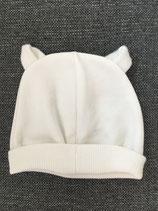 Haube mit Ohren (weiß)