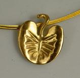 Hülser Mummelblatt, silber vergoldet