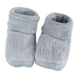 "Chaussons "" papa d'amour "" gris"