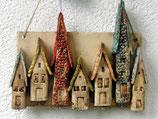 Keramik Schlüsselbrett Häuser bunt