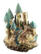 Keramik Windlicht Blaue Burg