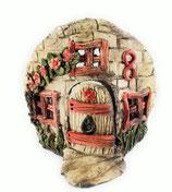 kleiner Keramik Teelichthalter Bruchsteinhaus No 8