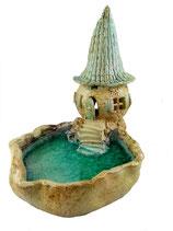 Keramik Vogeltränke Vogelbad Windlicht