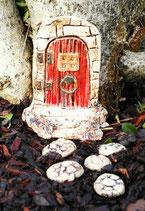 kleine Wichteltür Feentür Keramik