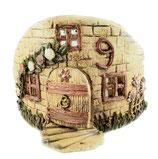 Teelichthalter Bruchsteinhaus Keramik
