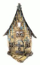 Keramik Kerzenhalter Teelichthalter Winterhaus