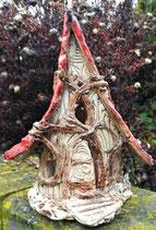 Keramik Windlicht Wurzelhäuschen