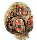 kleiner Keramik Teelichthalter Bruchsteinhaus No 2