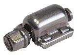 BANDIMEX Schraubgehäuse zu Schneckenschraubenband 14mm breit/ V2A Edelstahl mit Schnellverschluss pack à 50 Stk.