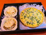 原木椎茸と帆立のキッシュ(1ホール)とレンジでオニグラ(2個入)セット