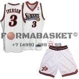 Комплект РЕТРО Филадельфия 76 №3 Аллен Айверсон белый баскетбольной формы NBA SWINGMAN