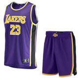 Лос-Анджелес Лейкерс №23 Леброн Джеймс фиолетовый комплект баскетбольной формы NBA