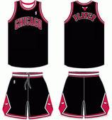 Комплект детской баскетбольной формы NBA Чикаго Булс № 1 Деррик Роуз черный