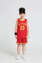 Комплект детской баскетбольной формы Леброн Джеймс Кливленд Кавальерс №23 красный