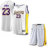 Лос-Анджелес Лейкерс №23 Леброн Джеймс белый комплект баскетбольной формы NBA