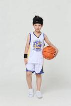 Комплект детской баскетбольной формы NBA Голден Стейт Уорриорс №30 Стив Карри белый