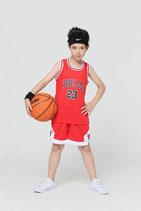 Комплект детской баскетбольной формы NBA Чикаго Булс № 23  Майкл Джордан красный