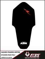 1 jeu de caches phares DJS pour KTM RC8 microperforés qui laissent passer la lumière - référence : RC8-001-