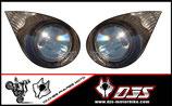 1 jeu de stickers phares DJS pour kawaski zx6r a coller sur poly - référence : zx6-r-2007-2008-imitation phare pour poly -