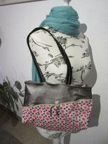 Damentasche mit beschichteter Baumwolle