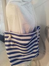 Sommertasche blau-weiß gestreift