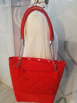 Lederhandtasche in rot