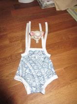 Badeanzug in blau/weiß für Puppe (43 cm)