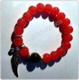 Perlen Armband  rot mit Motiv