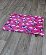 Einhorndecke rosa ohne Füllung  65x95cm