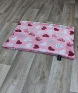 Herzchendecke rosa ohne Füllung  65x95cm