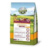 Hochwertiges Futter für kleinere Rassen. FREILAND-SCHMAUS MINI - getreidefrei 2,5 kg inkl.TVA